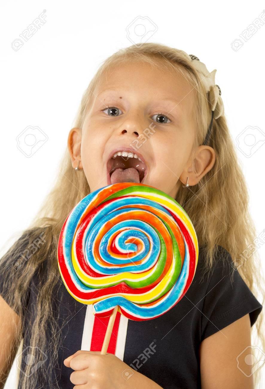 Schöne Weibliche Kind Mit Langen Blonden Haaren Und Blauen Augen