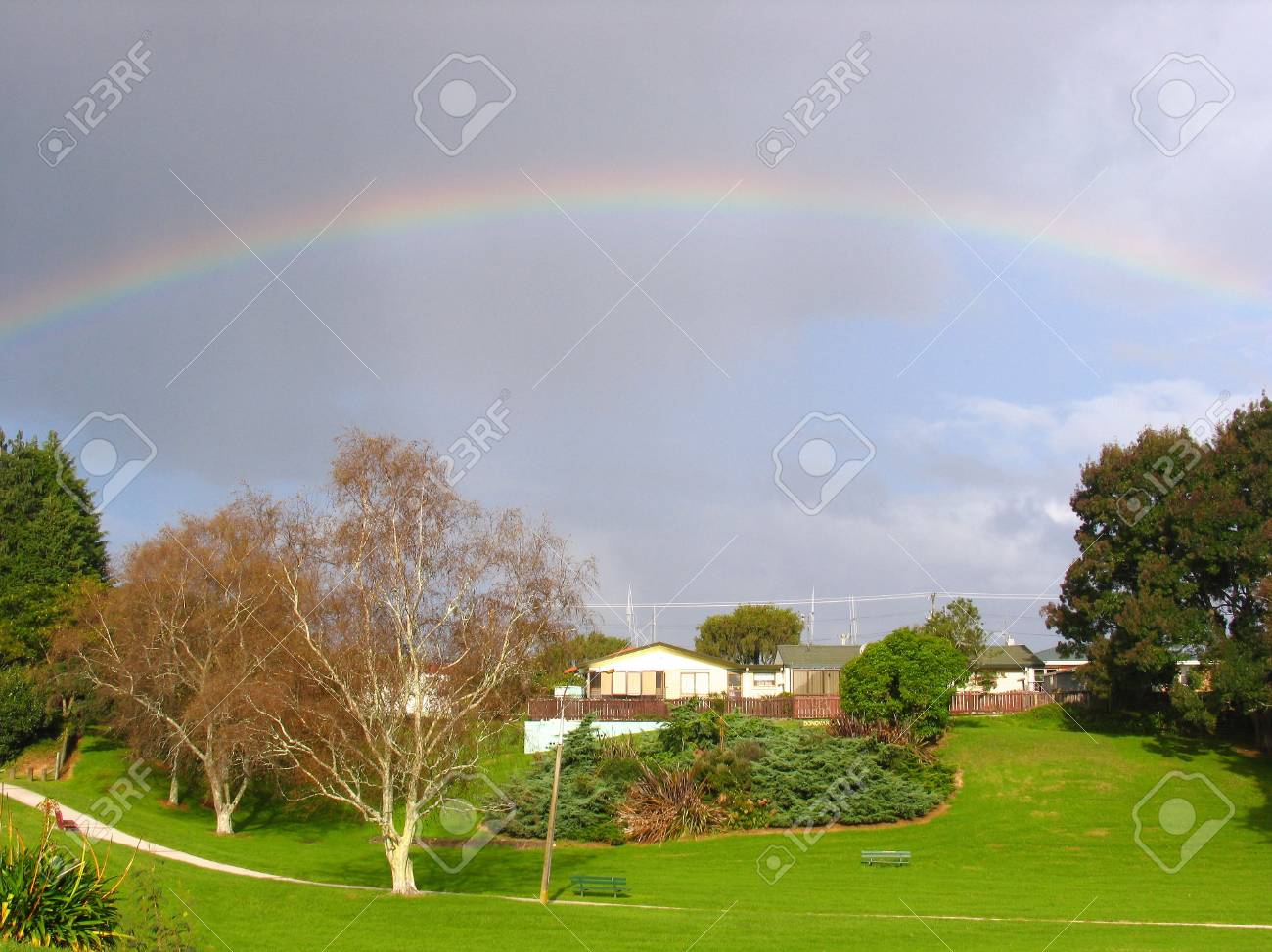 New Zealand Landscape (Rainbow) Stock Photo - 3643534