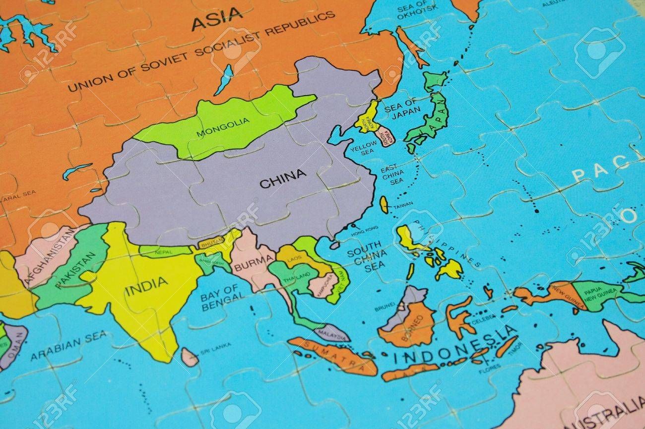 Puzzle Map Asia Photo Picture And Royalty Free Image – Asia Map Puzzle