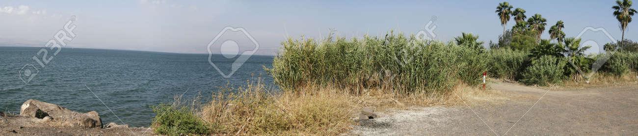 Sea of Galilee, northern Israel, near Tiberius - Panorama Stock Photo - 933123