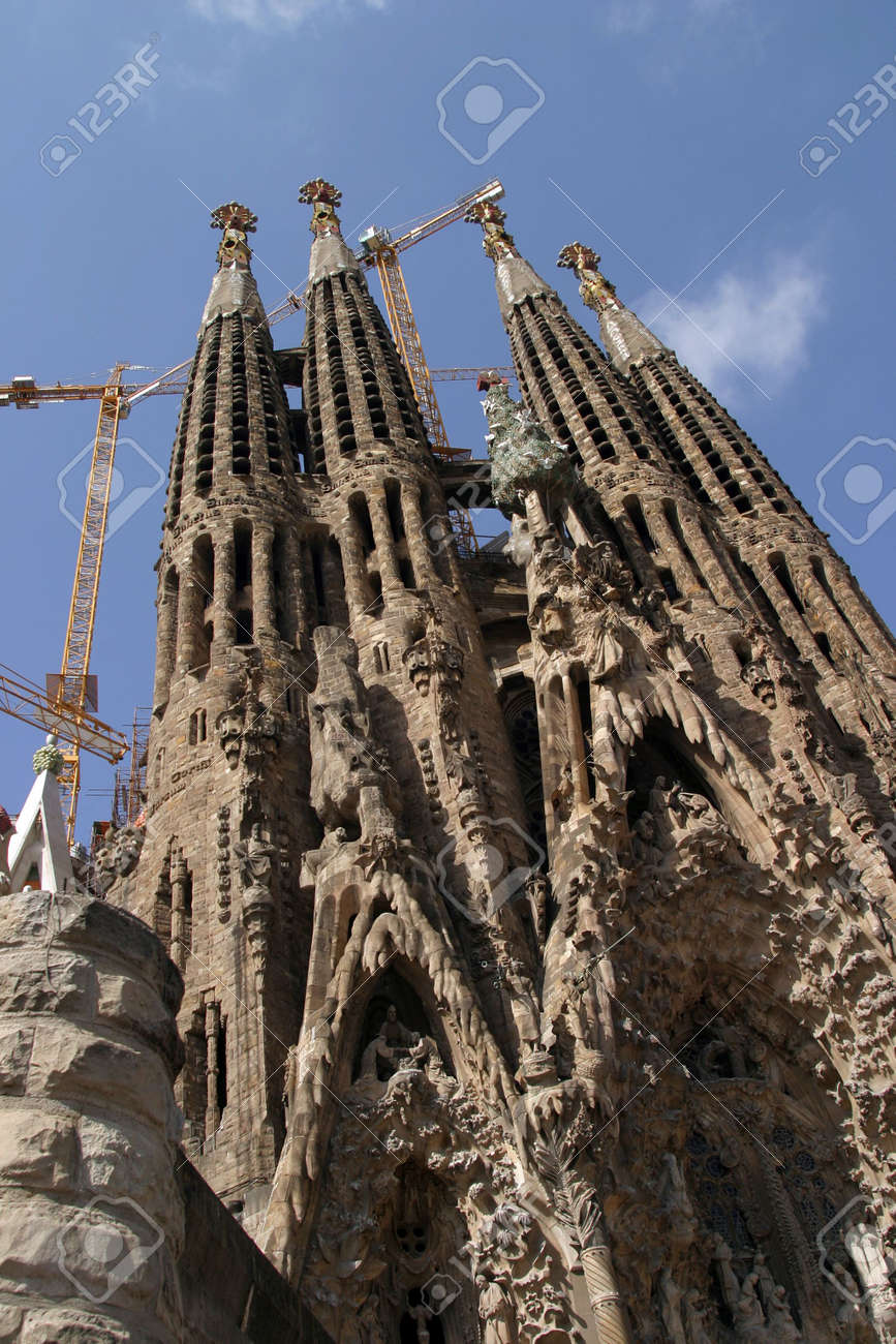 The Famous Sagrada Familia Church In Barcelona Spain Stock Photo Picture And Royalty Free Image Image 1327239