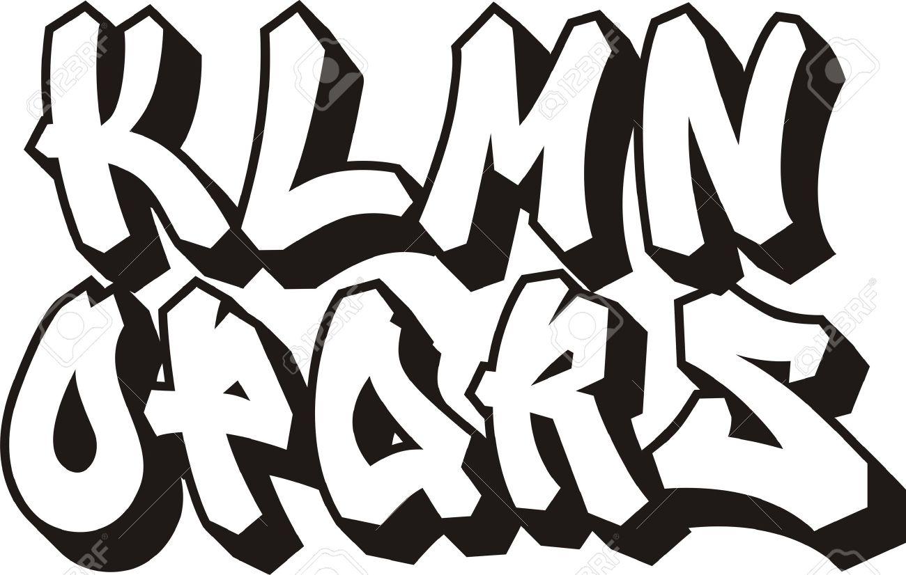 Vector vector graffiti font alphabet part 2