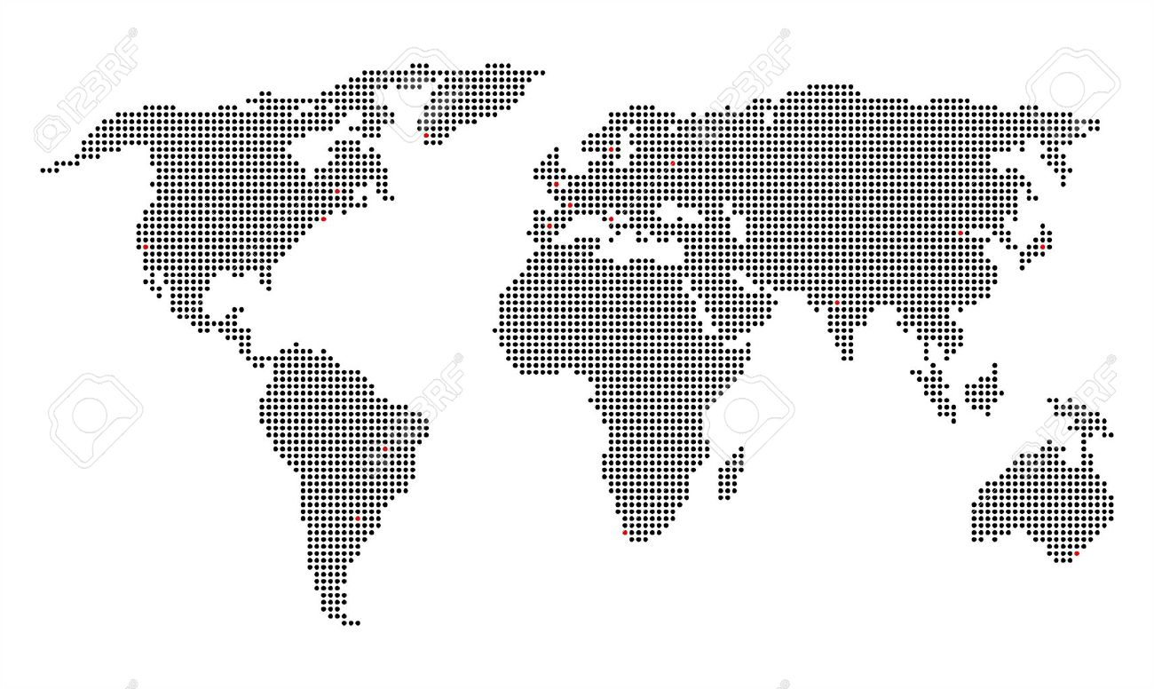 Pixelated world map royalty free cliparts vectors and stock pixelated world map gumiabroncs Images