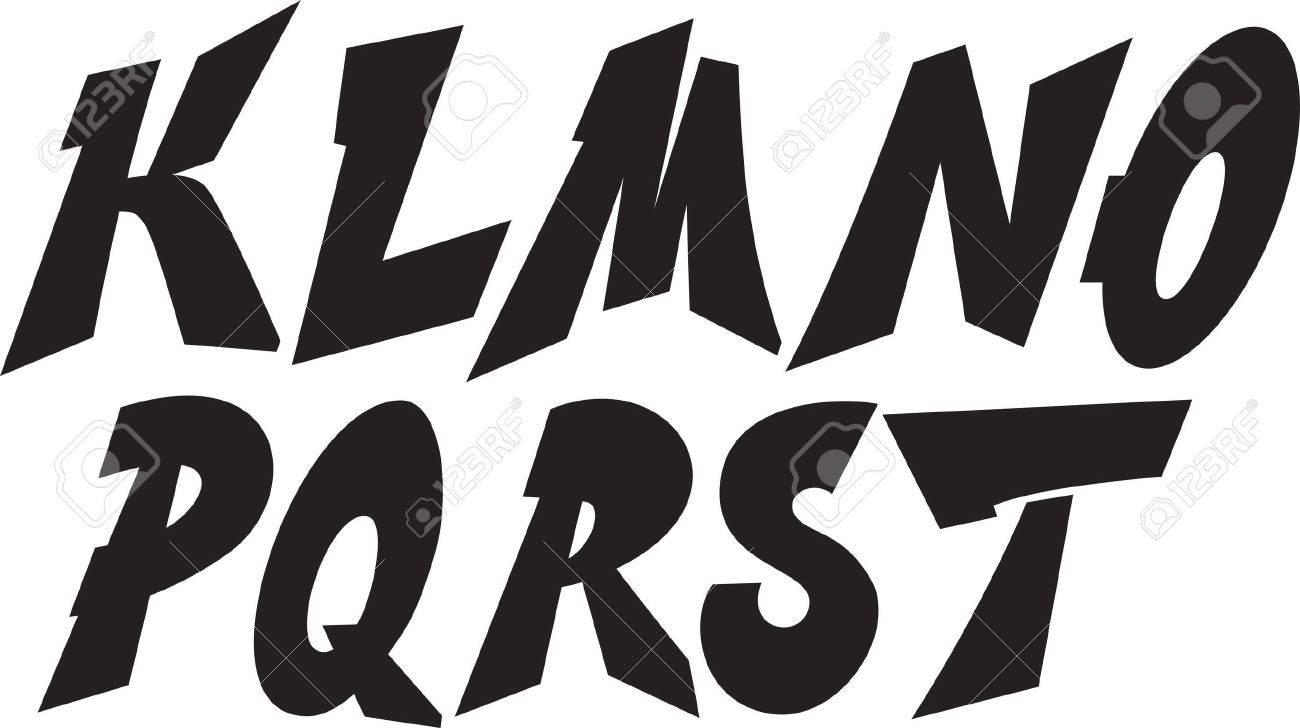 Graffiti font alphabet part 2 stock vector 21383298
