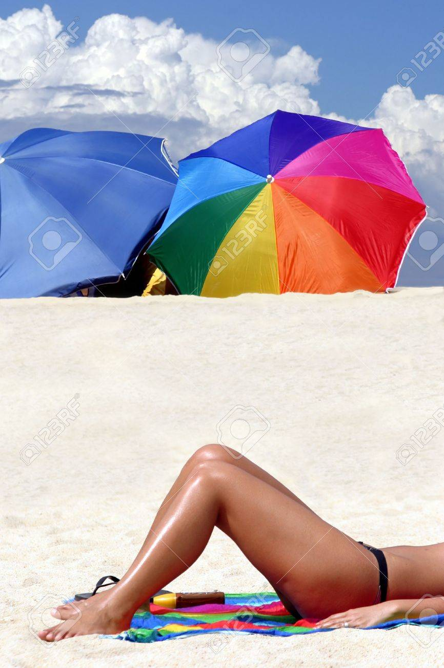 A girl on Caribbean islands vacation Stock Photo - 2263141