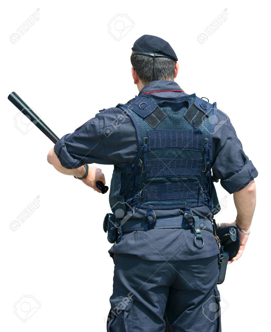 Security Officer with Clipping Path Stock Photo - 10185259