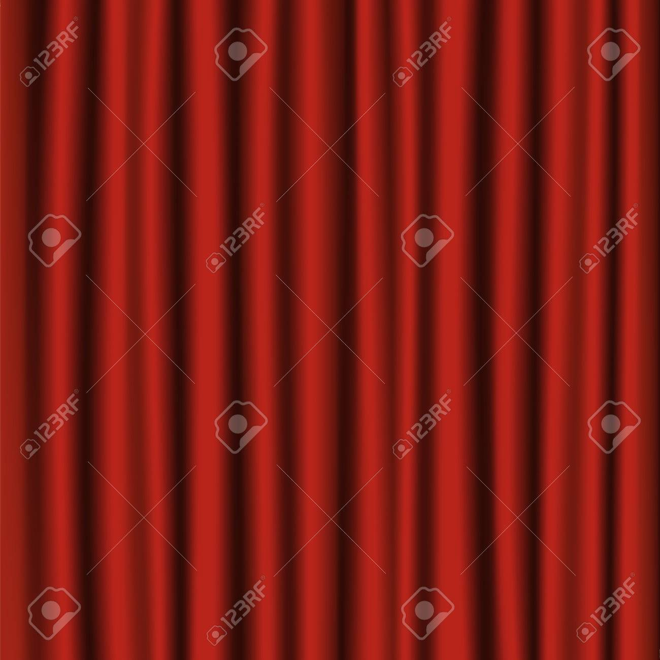 Velvet Red Curtain Background Or Backdrop Royalty Free Cliparts