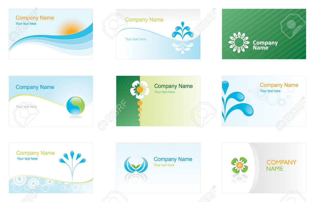 Set of environmental business cards or backgrounds royalty free set of environmental business cards or backgrounds stock vector 3667204 colourmoves Images