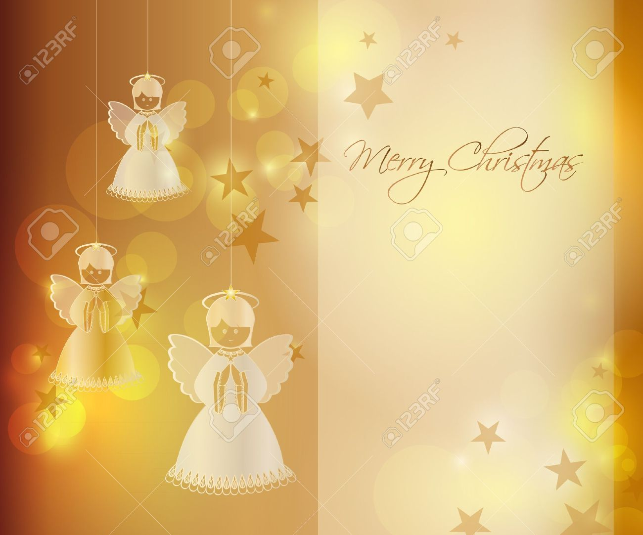 Merry Christmas Background With An Angel Royalty Free Cliparts ...