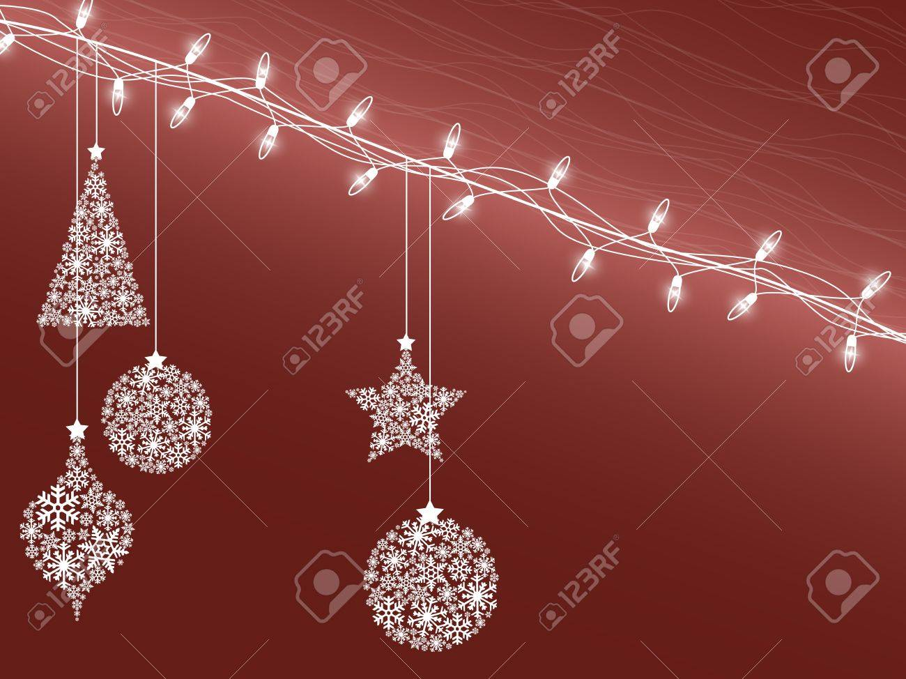 Background of Christmas lights Stock Vector - 10953781