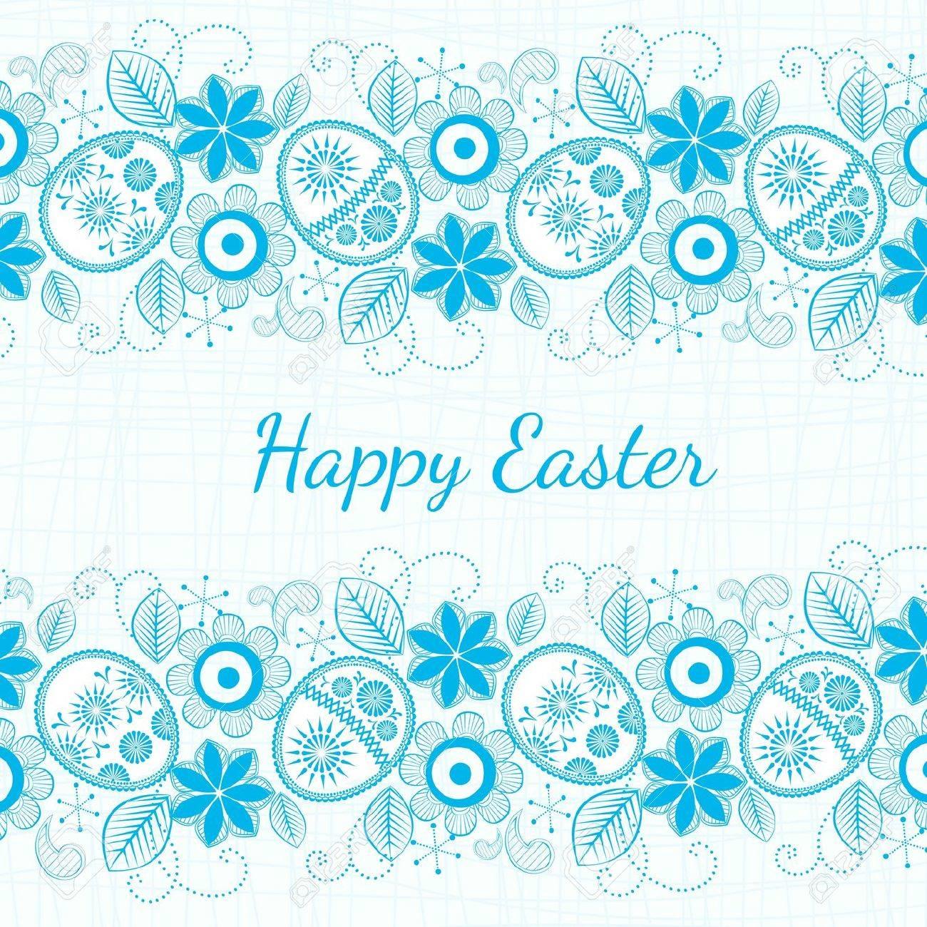 blue background Easter motif. Stock Vector - 12167432