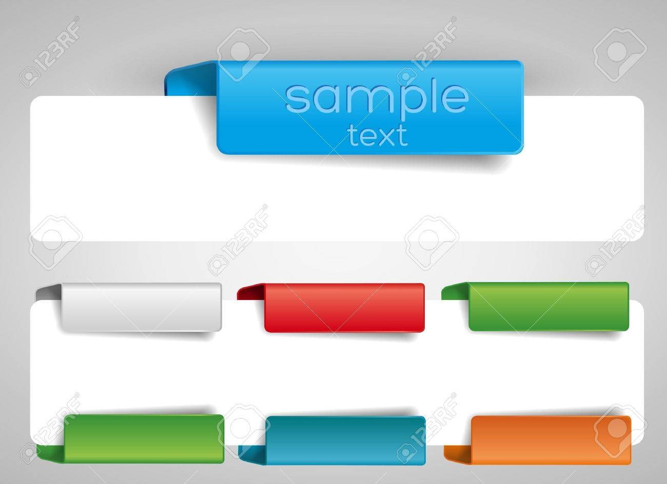 blank tab for the web. Stock Vector - 12167440