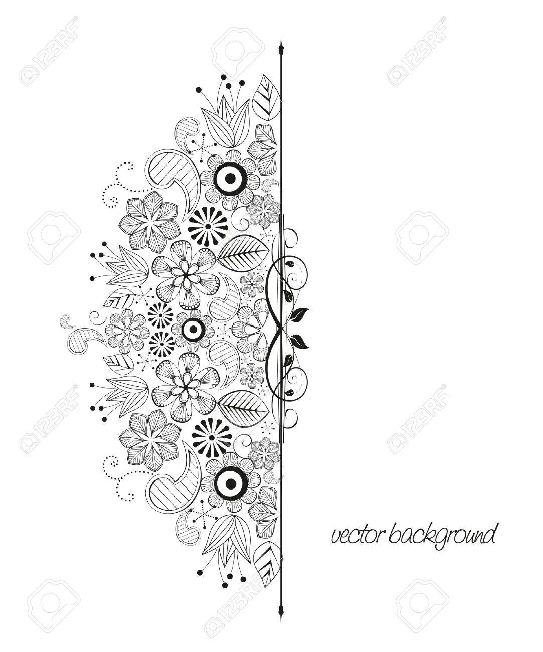 Floral Decoration floral decoration on white background royalty free cliparts