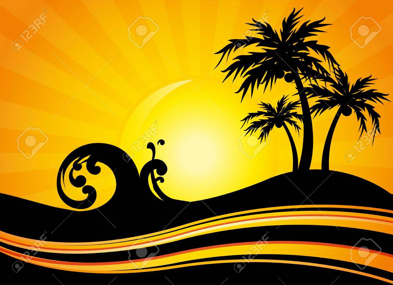 summer holiday by the sea Stock Vector - 13152172