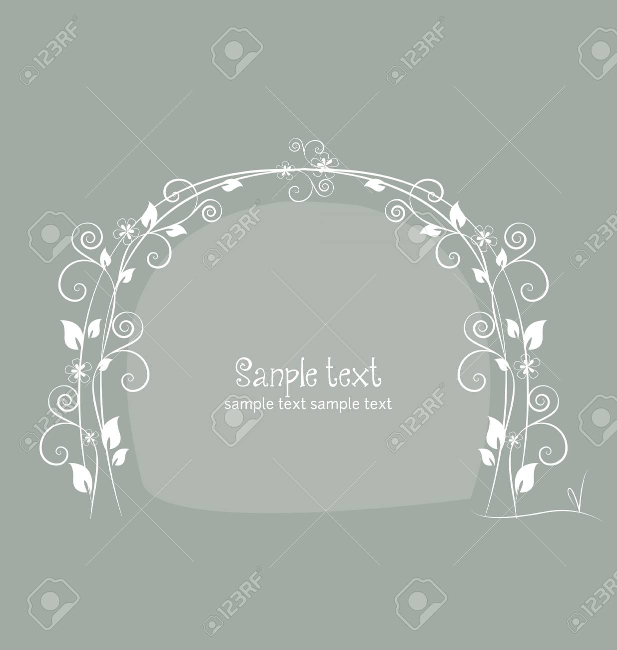 Floral greeting card with place for text Stock Vector - 13251080
