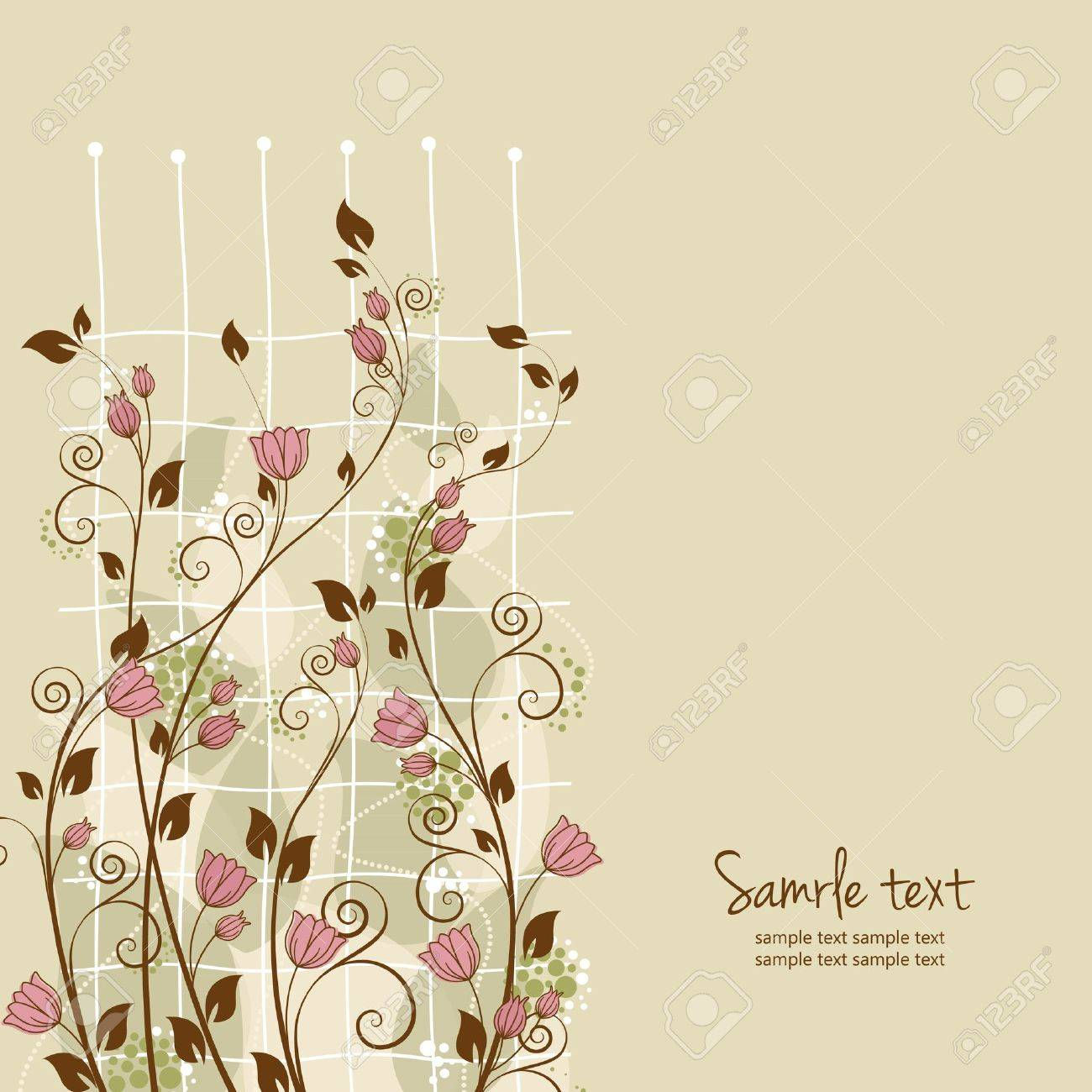 beautiful flower decoration with place for text Stock Vector - 13282013