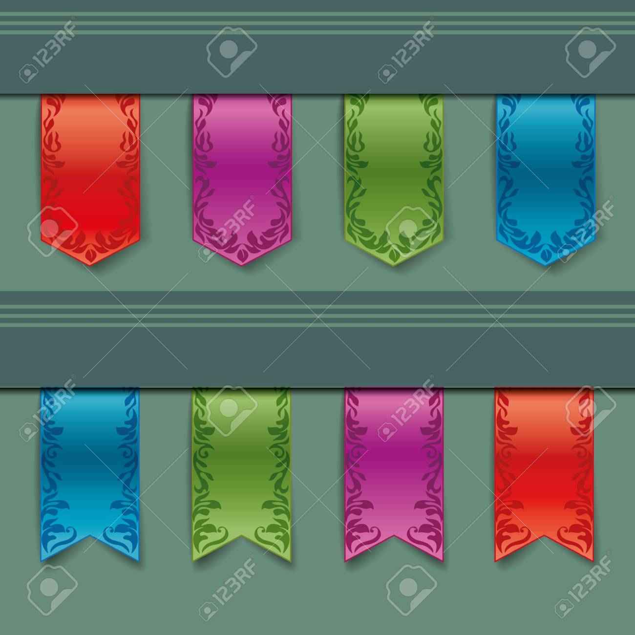 vintage ribbon of different colors Stock Vector - 13385459