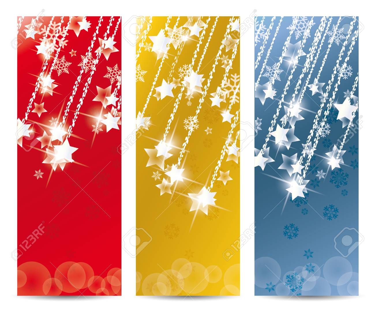 Set of vector Christmas banner and for the new year Stock Vector - 14323984