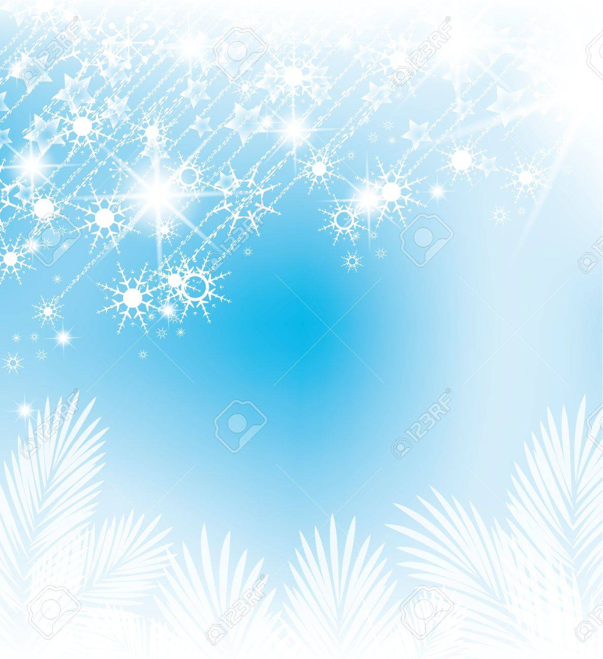abstract background with falling snow flakes Stock Vector - 14553287