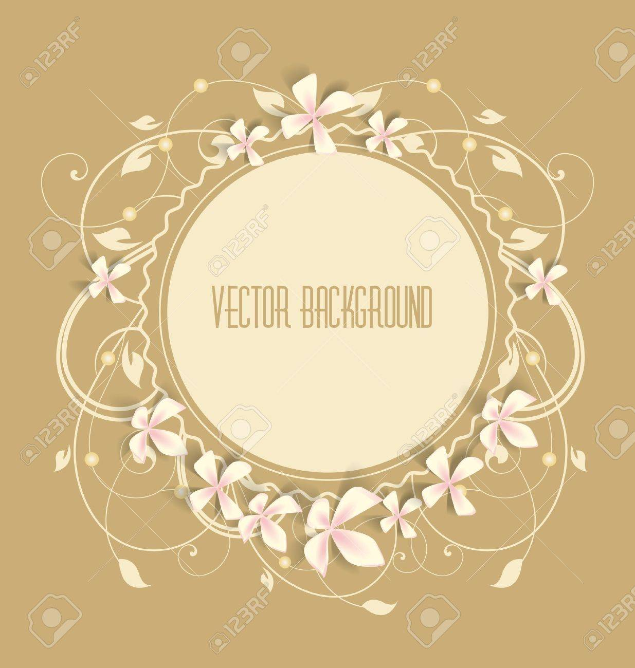 Vintage floral background  Beautiful frame with flowers Stock Vector - 14709947
