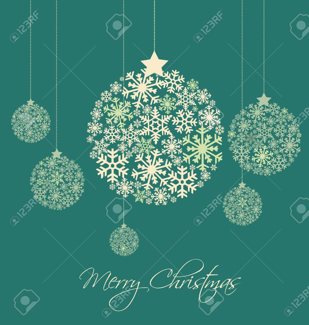 Christmas balls made from snowflakes  illustration Stock Vector - 14892313