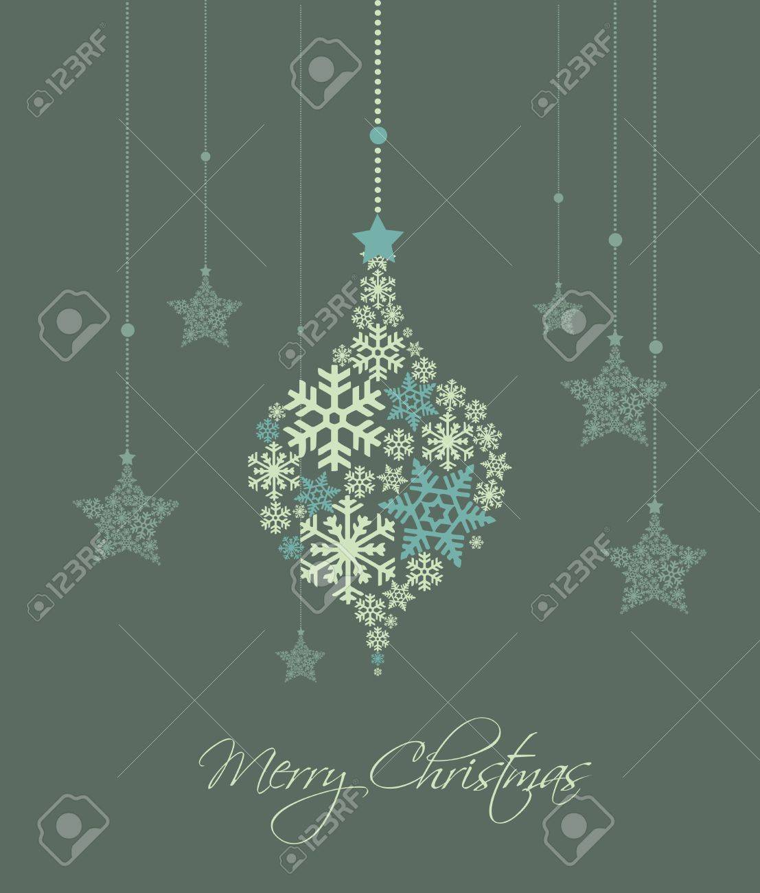 Christmas decoration made from snowflakes, vector illustration Stock Vector - 14971521