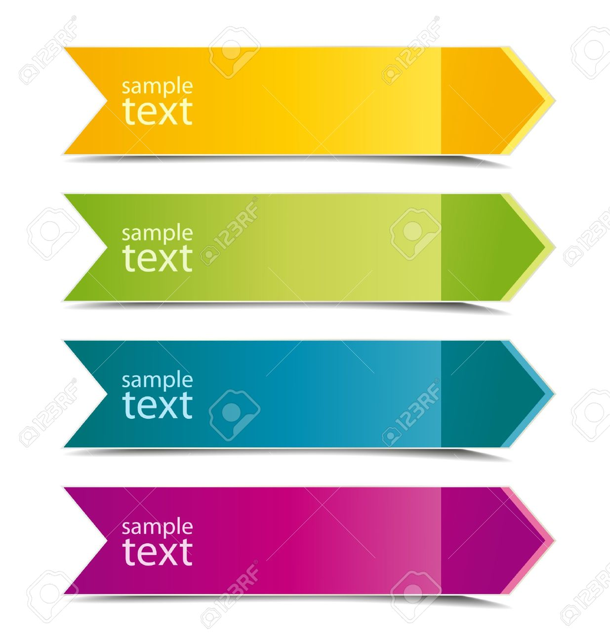 Collection of color arrows with place for text Stock Vector - 15122473