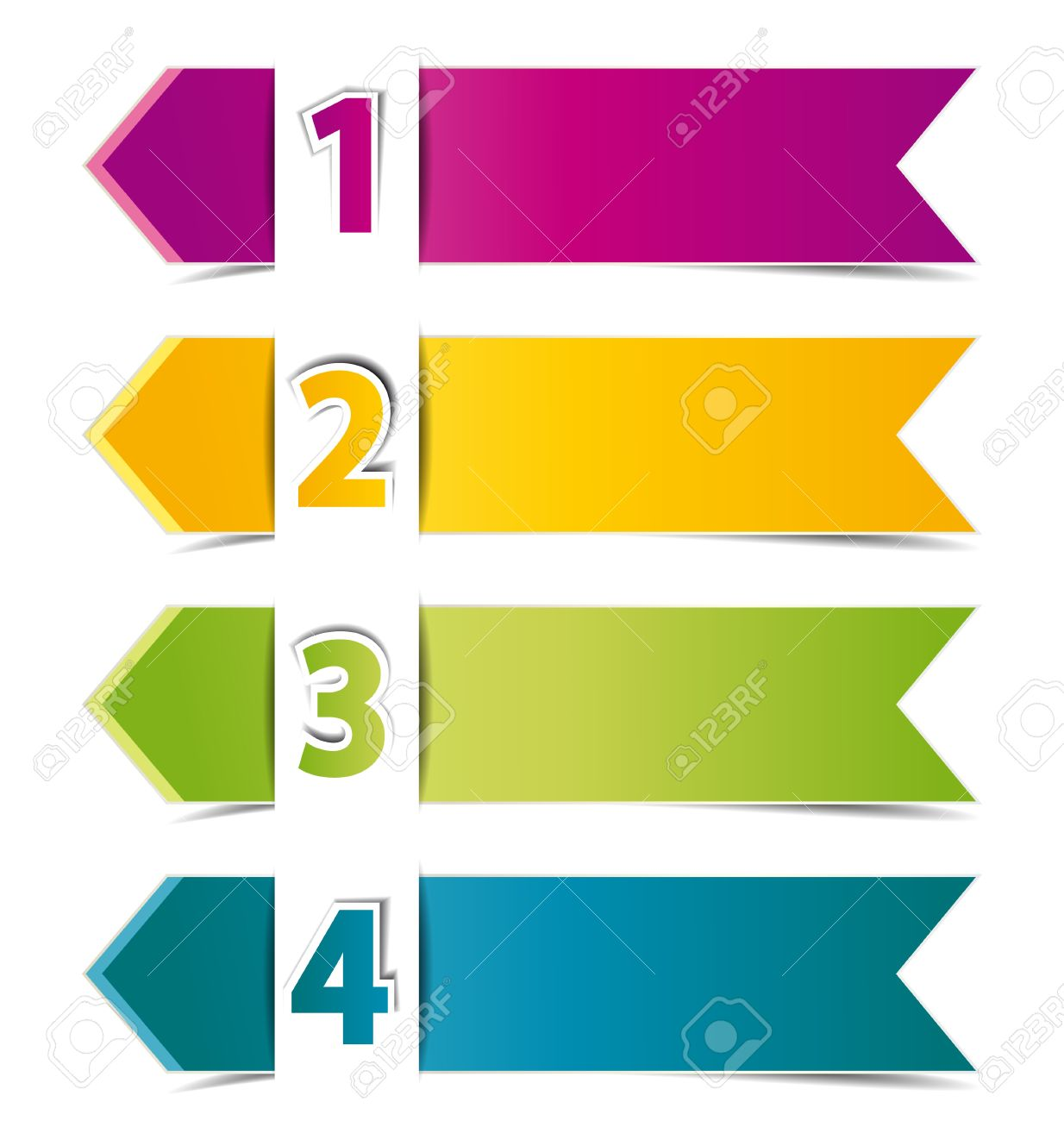 Design Template Numbered Banners Royalty Free Cliparts, Vectors ...
