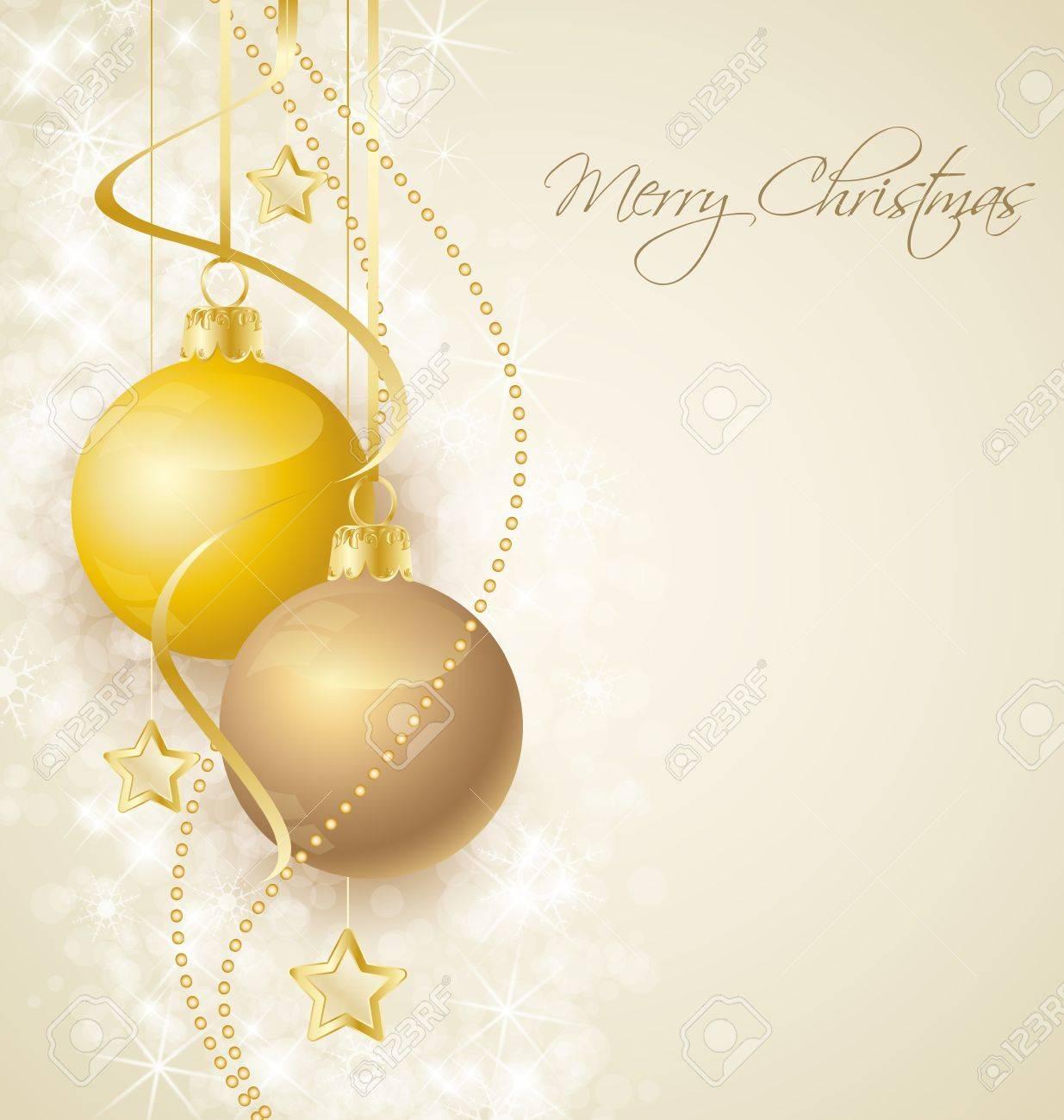 Christmas background with stars and Christmas balls Stock Vector - 15538437