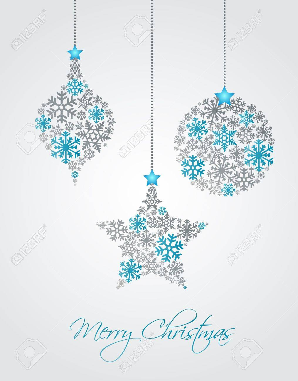Christmas ornaments made from snowflakes vector illustration Stock Vector - 15704244
