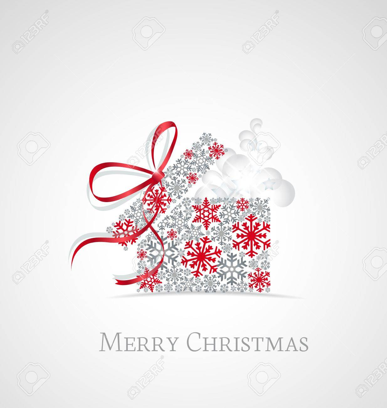 Christmas present box on snowy background Stock Vector - 15935745