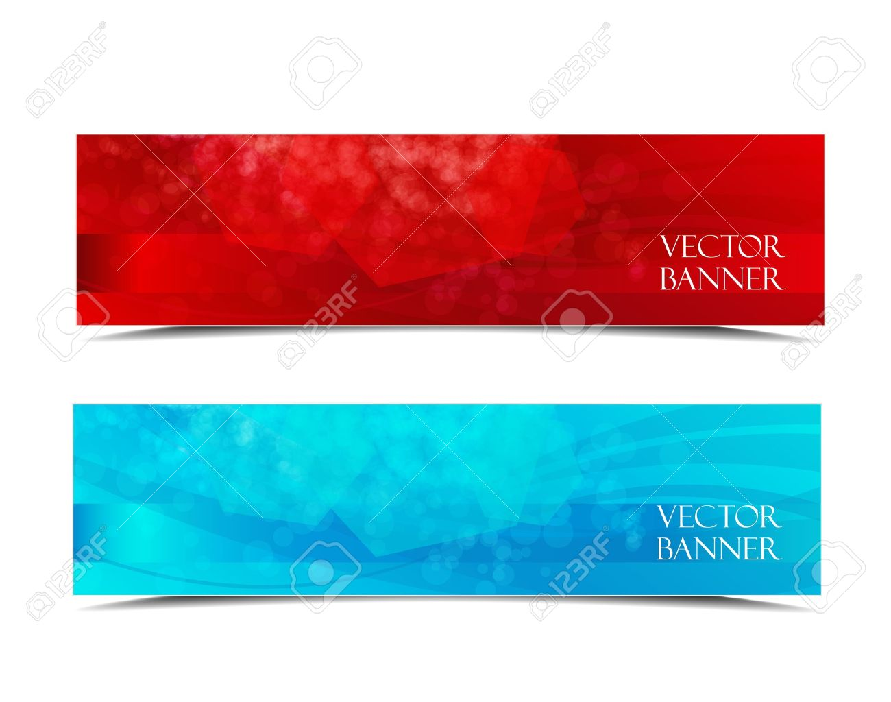 Design vector banner - Two Banners Modern Wave Design Colorful Background Stock Vector 16004708