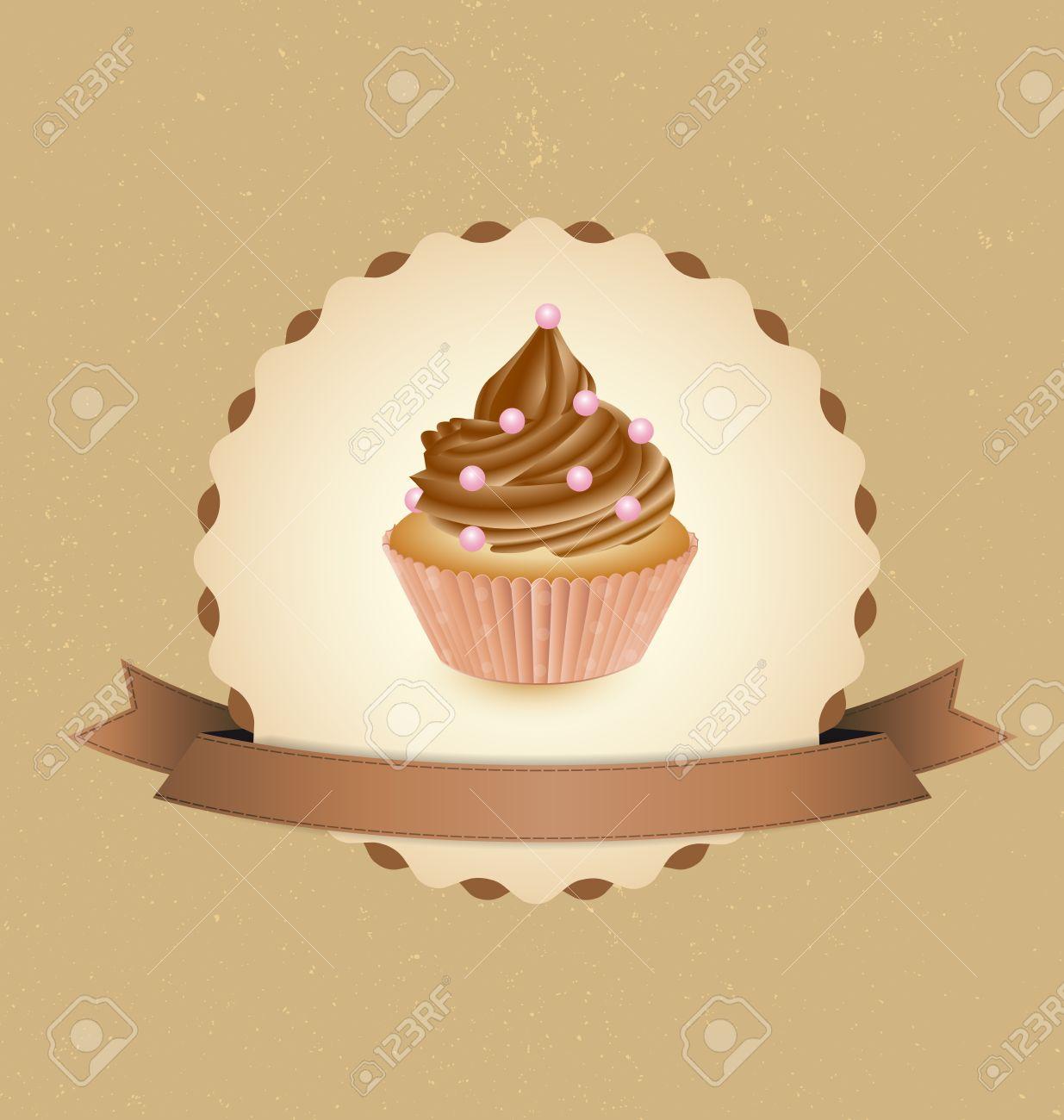 Retro cupcakes Clipart | k26299254 | Fotosearch