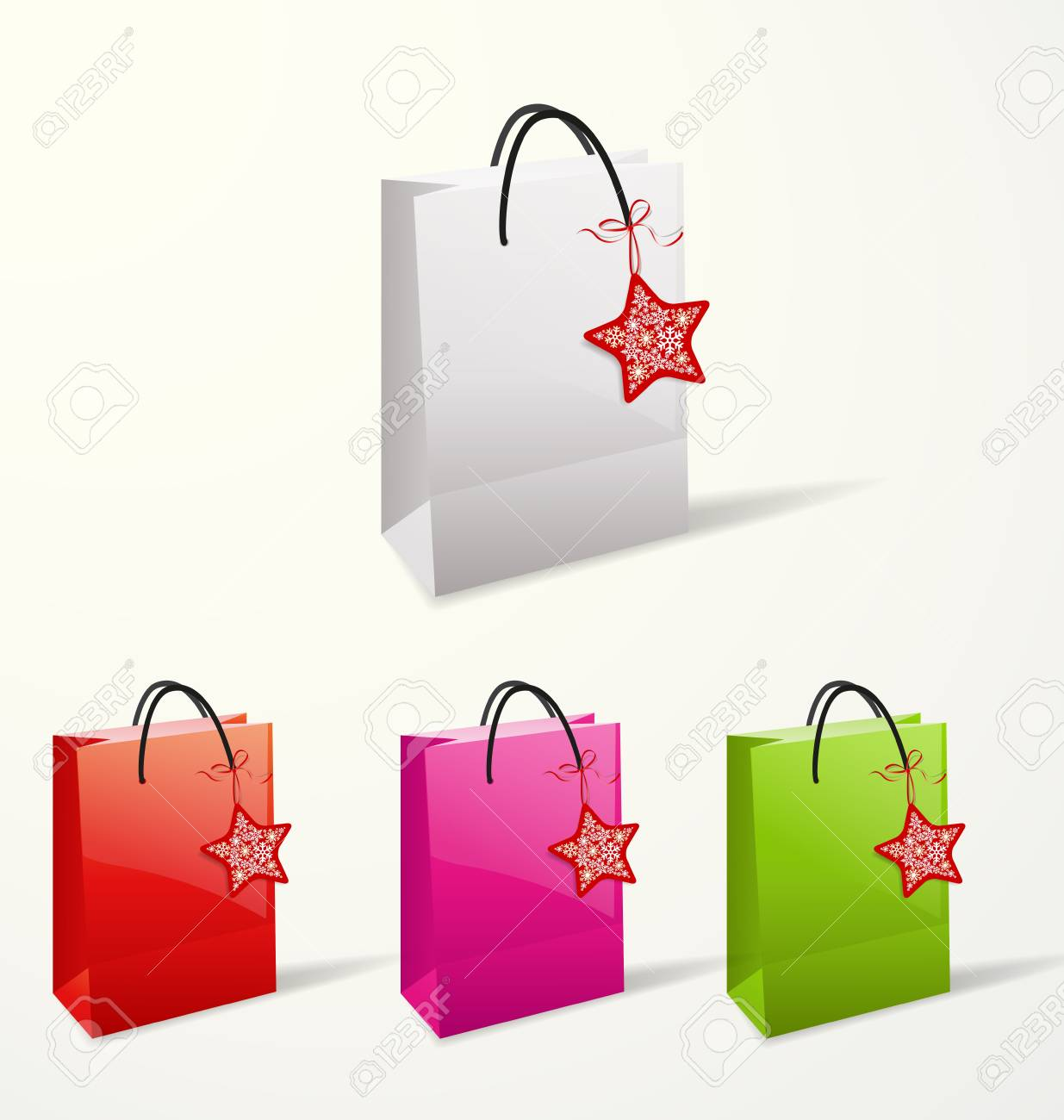 Set of different paper bags Stock Vector - 16798375