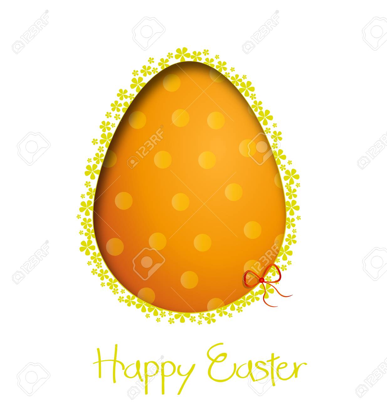 easter background with egg illustration Stock Vector - 17081254