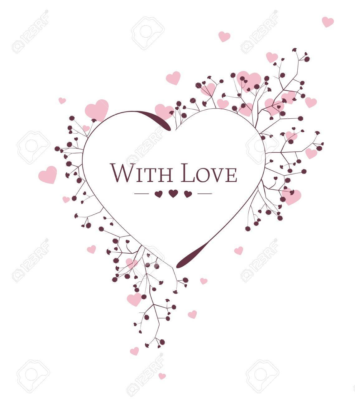 floral heart on white background,  illustration Stock Vector - 17360157