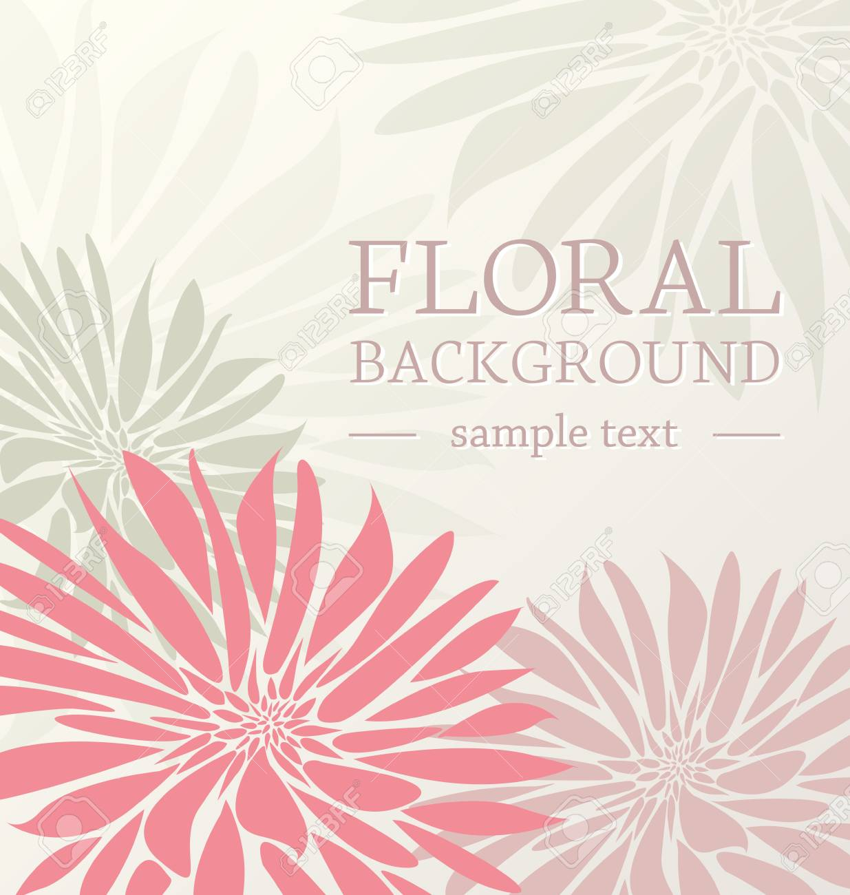 greeting card floral with place for text Stock Vector - 17757457