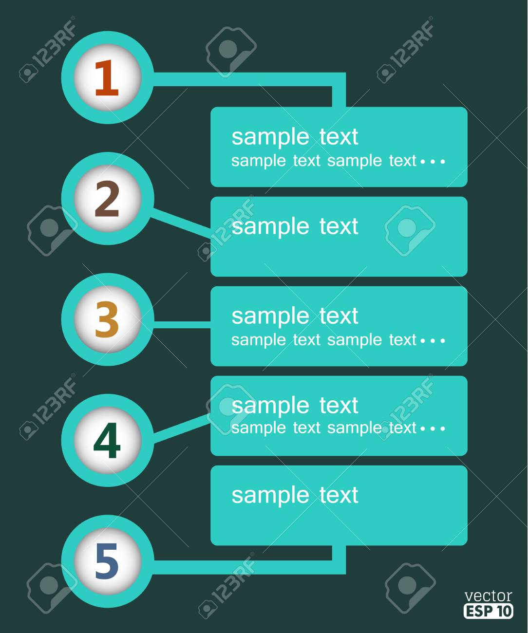 Vector design template with numbers and place for your text. Stock Vector - 17858886