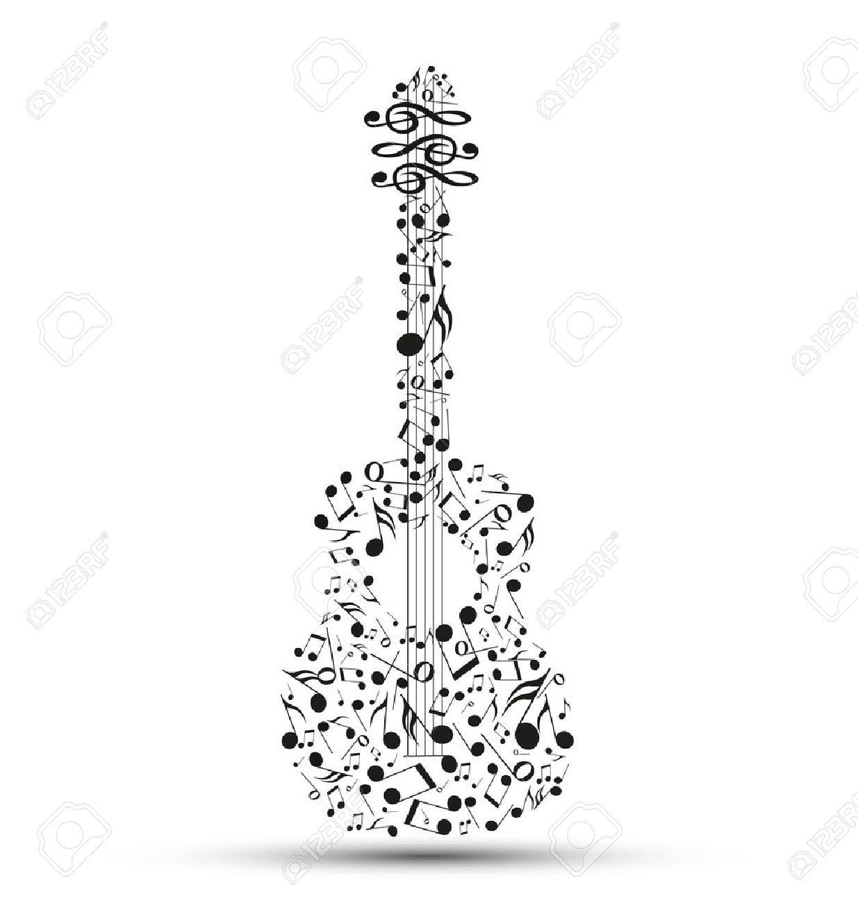 Note Musique Guitare Note de Musique Décoration