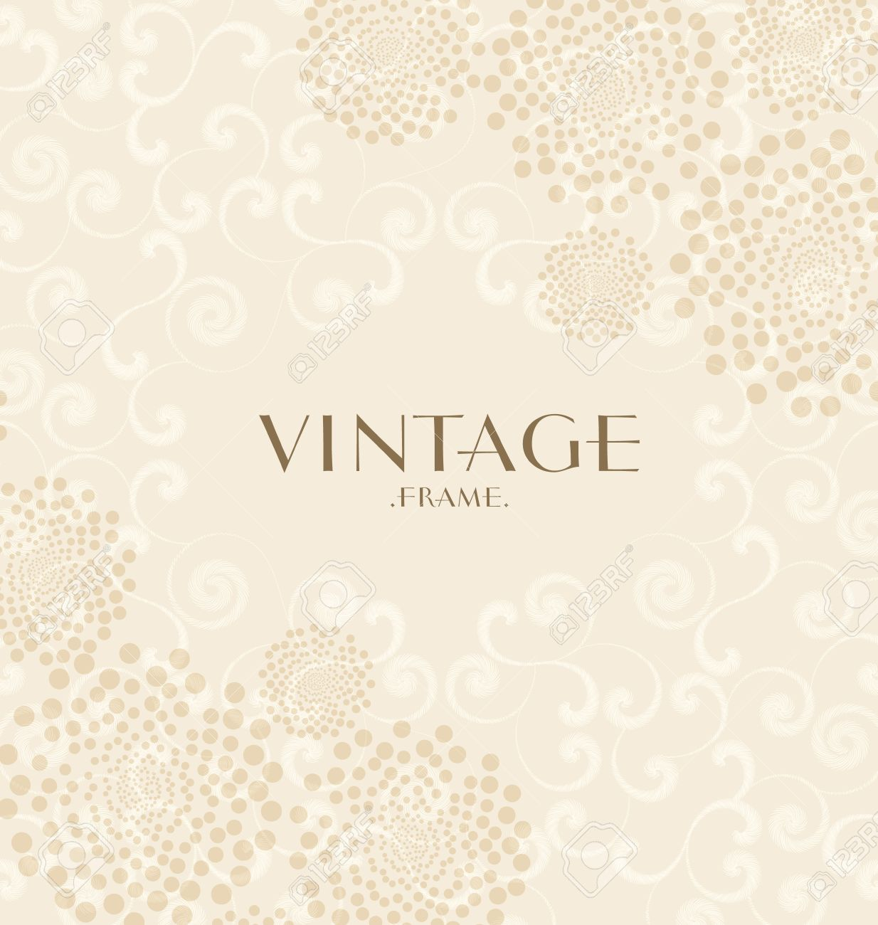 Vintage Frame On A Light Brown Background Royalty Free Cliparts