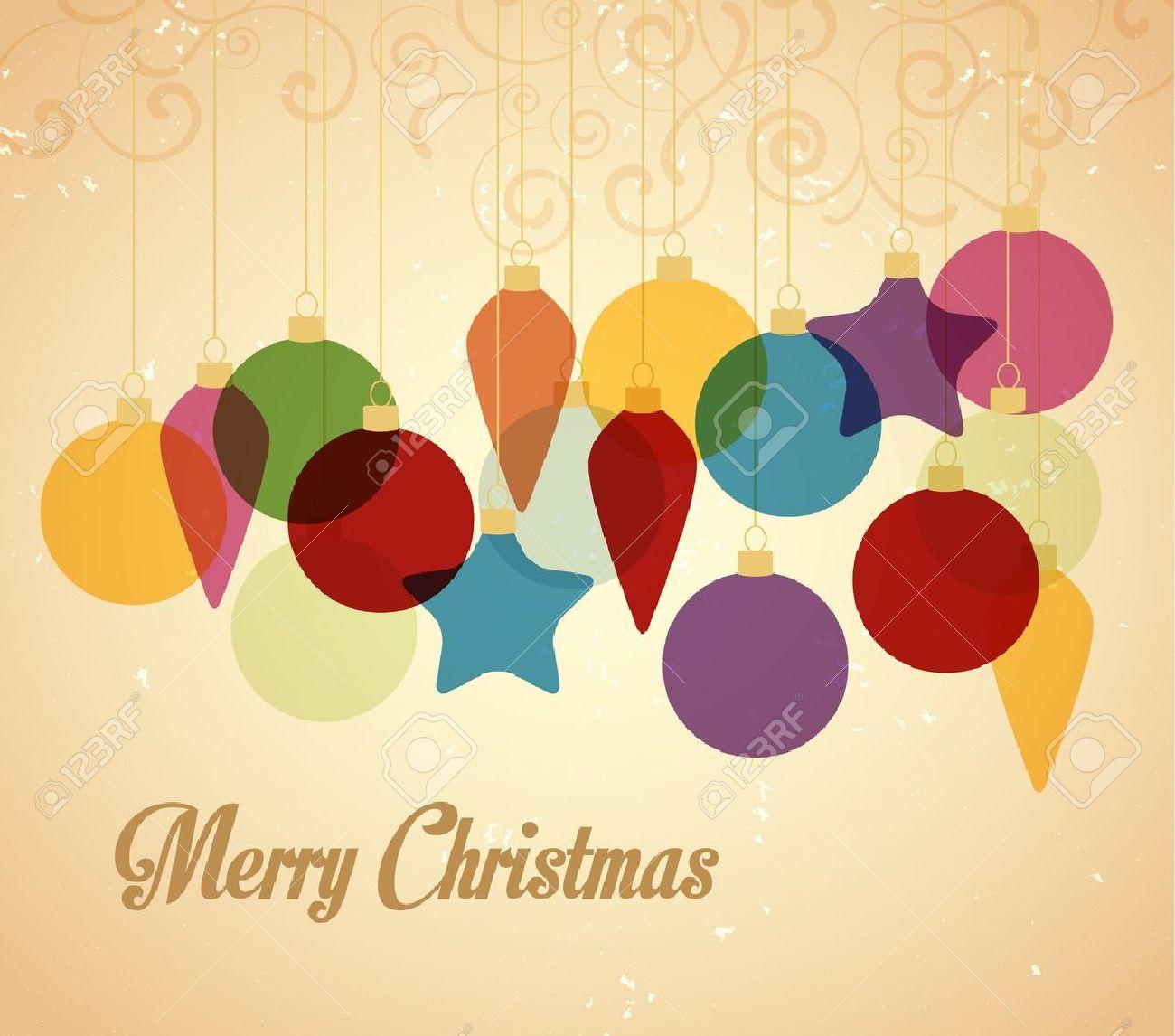 retro fondo de navidad con bolas de navidad foto de archivo