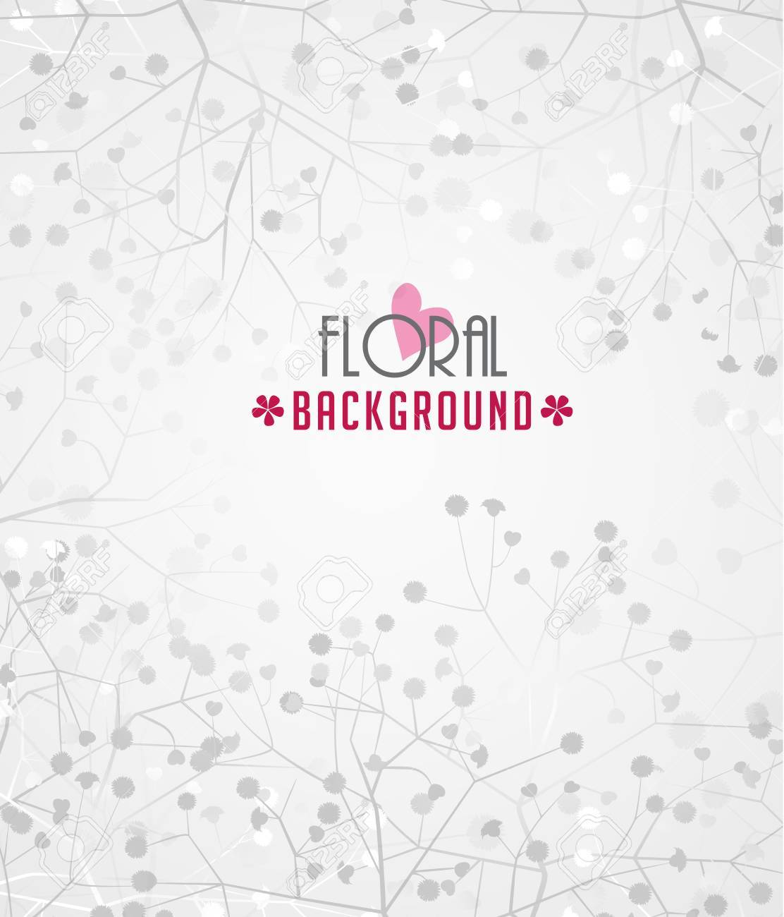Romantic floral background with place for text Stock Vector - 24538672