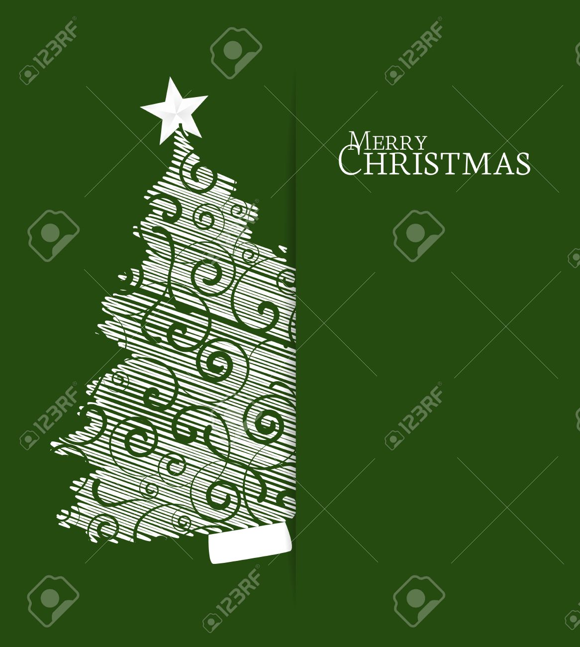 Green background with Christmas tree - 29832343