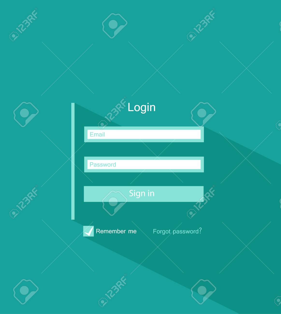 template background login form flat ui design royalty free cliparts