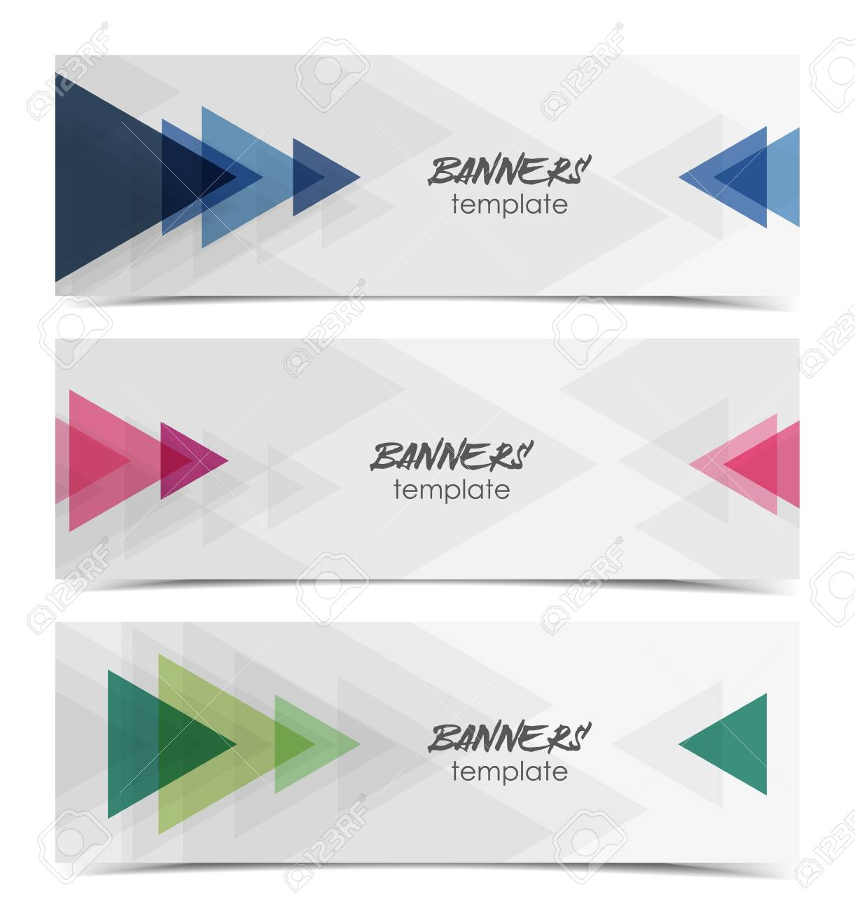 vector illustration abstract web banner design template background