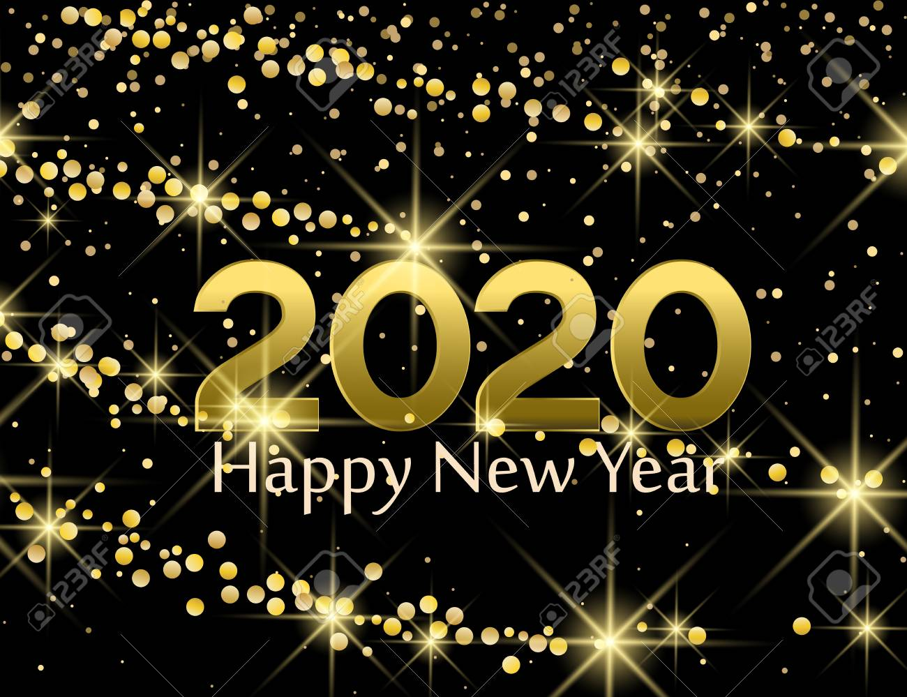 New Christmas Music 2020 Merry Christmas Card, 2020 Happy New Year Background. String
