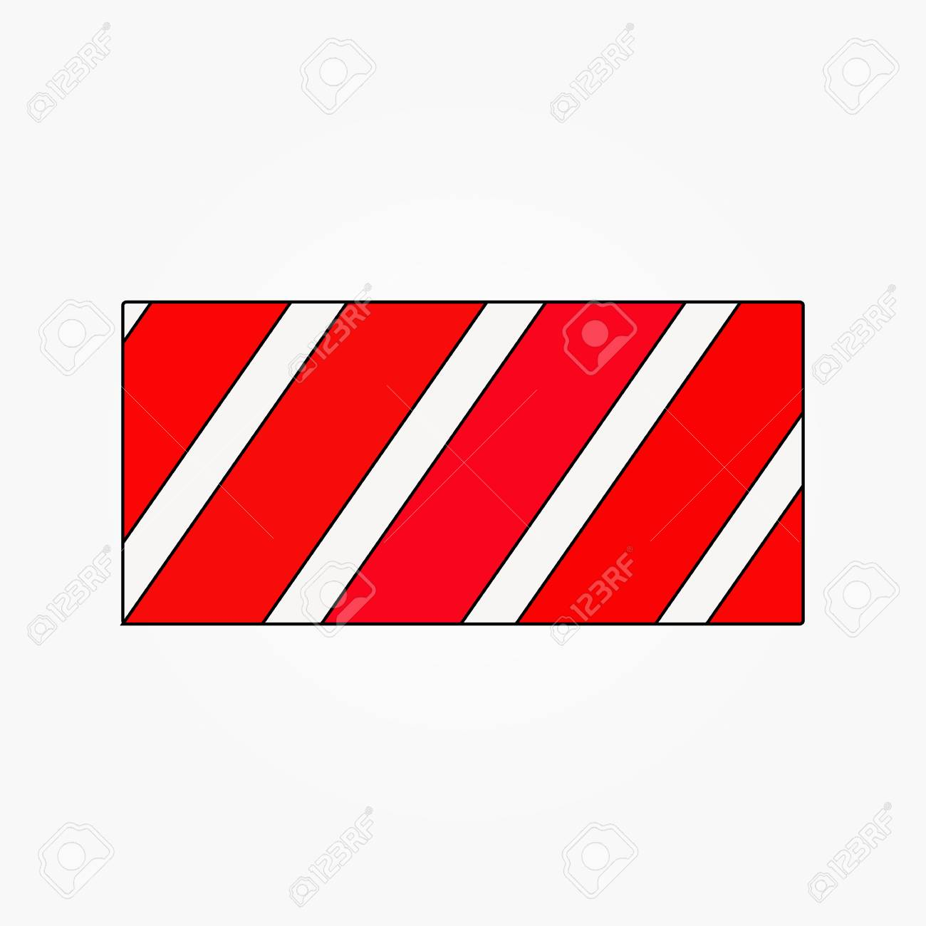 red line continues envelope forming a square vector - 119615483
