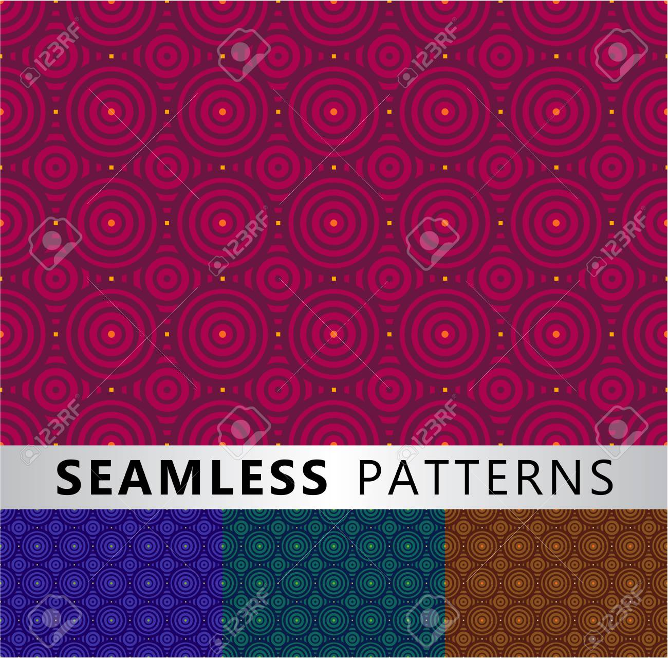 Four seamless patterns in different colors Stock Vector - 16040650