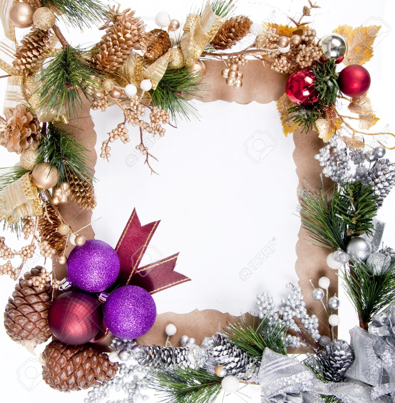 Christmas Ornament Frame Decoration For Good Christmas Card Stock ...