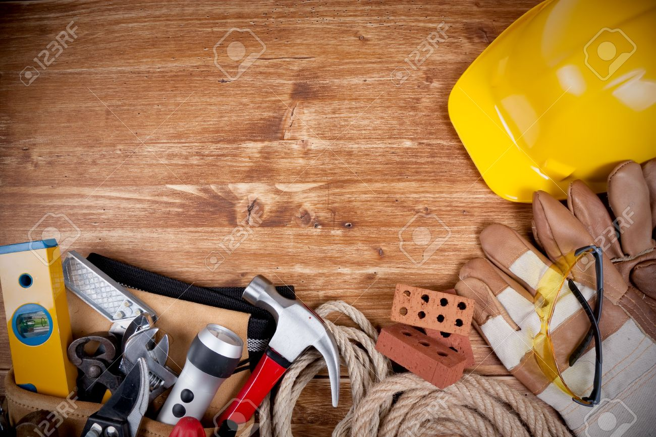Copy space Working Tool On wood background Stock Photo - 6791051
